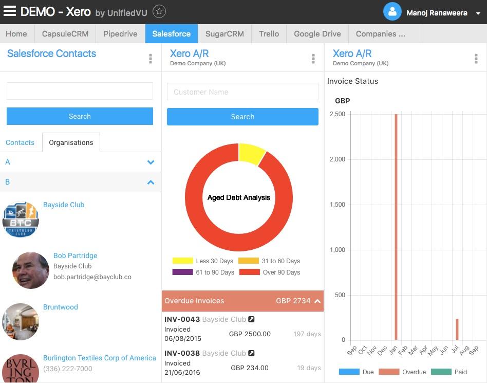 Xero + Salesforce