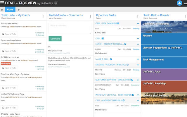 Unified Task View